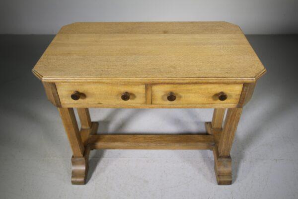 1920's Heals Oak Oxford College Desk - Labelled   Miles Griffiths Antiques