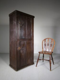English Original Painted Pine Cupboard