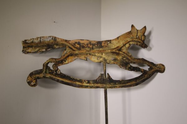 Large English 19th Century Antique Fleeing Fox Weathervane   Miles Griffiths Antiques