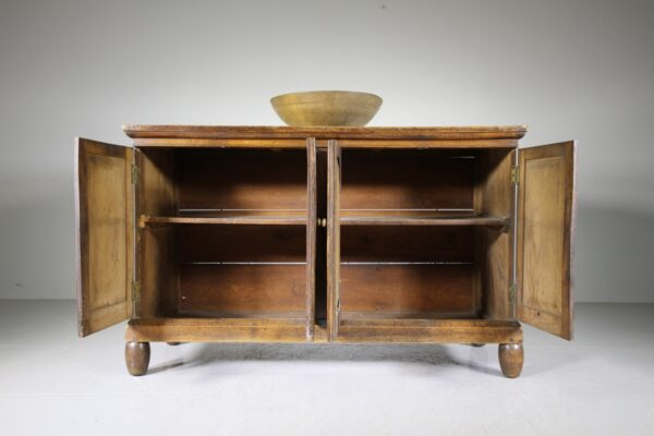 Beautiful English 19th Century Antique Elm Four Door Cupboard | Miles Griffiths Antiques
