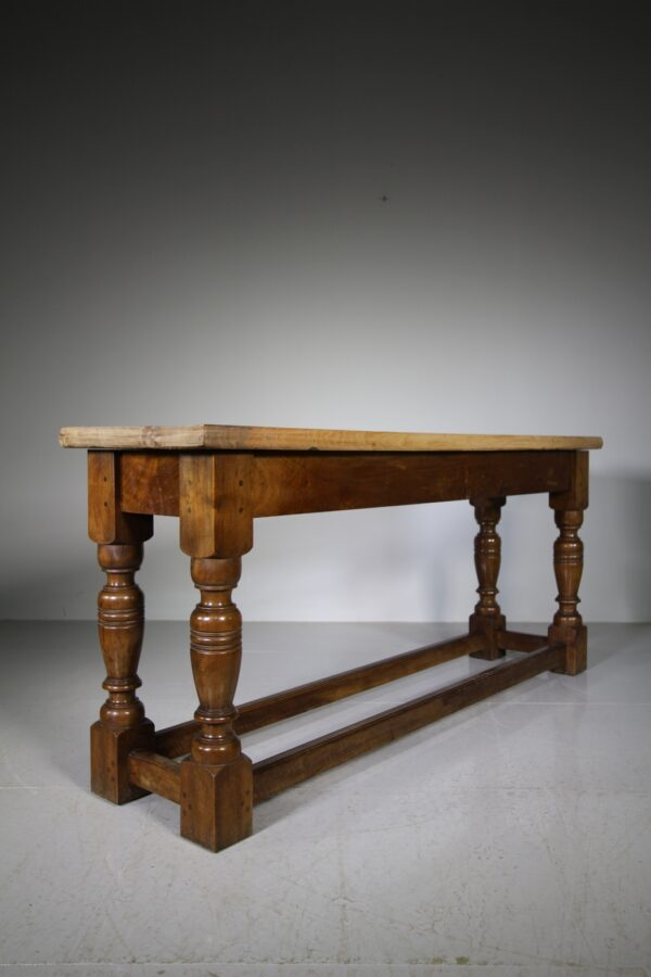 Fabulous English 19th Century Antique Walnut Side Table   Miles Griffiths Antiques