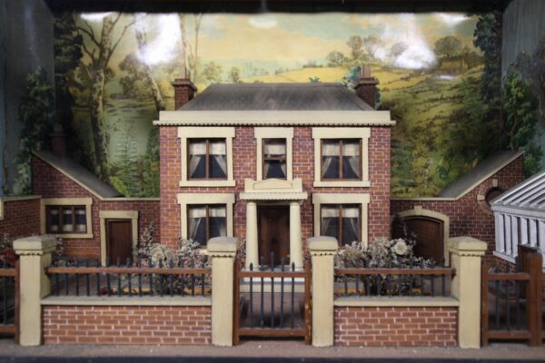 Amazing 19th Century Antique English Country House & Garden Antique Diorama | Miles Griffiths Antiques