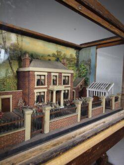 Amazing 19th Century Antique English Country House & Garden Antique Diorama