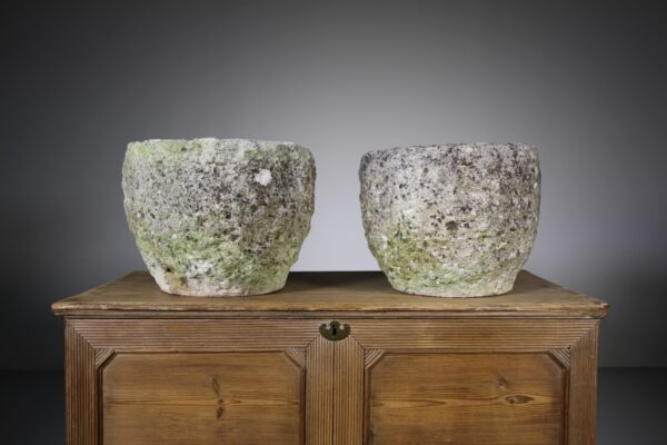 Pair of English Limestone Antique Urns   Miles Griffiths Antiques