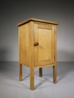 Heals 1920's Oak Bedside Cupboard