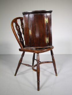 Unusually Small Georgian Antique Bow Front Corner Cupboard