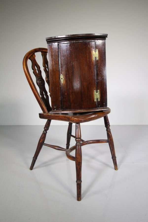 Unusually Small Georgian Antique Bow Front Corner Cupboard | Miles Griffiths Antiques