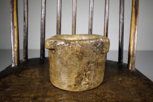 Wonderful Early Antique Burr Wood Mortar   Miles Griffiths Antiques