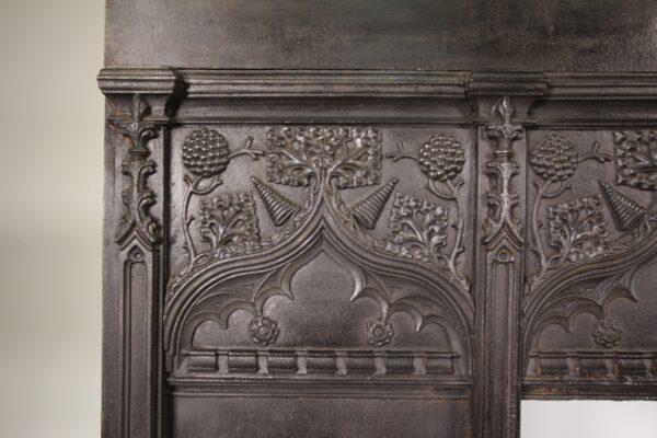 19th Century Antique Cast Iron Fire Surround by Thomas Elsley   Miles Griffiths Antiques