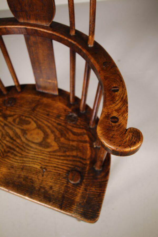 Astoundingly Good Welsh 18th Century Primitive Antique Windsor Armchair   Miles Griffiths Antiques