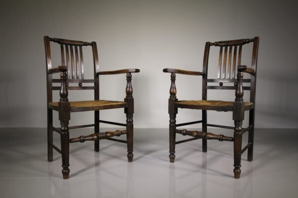 Pair of Antique Lancashire Country Armchairs | Miles Griffiths Antiques