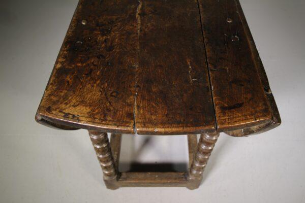 Large 17th Century English Antique Oak Gate Leg Dining Table | Miles Griffiths Antiques