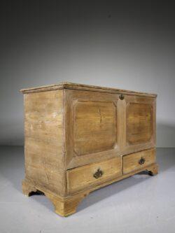 Georgian Antique Pine Mule Chest Box