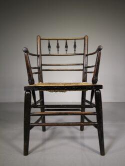 19th Century Antique Sussex Chair by William Morris