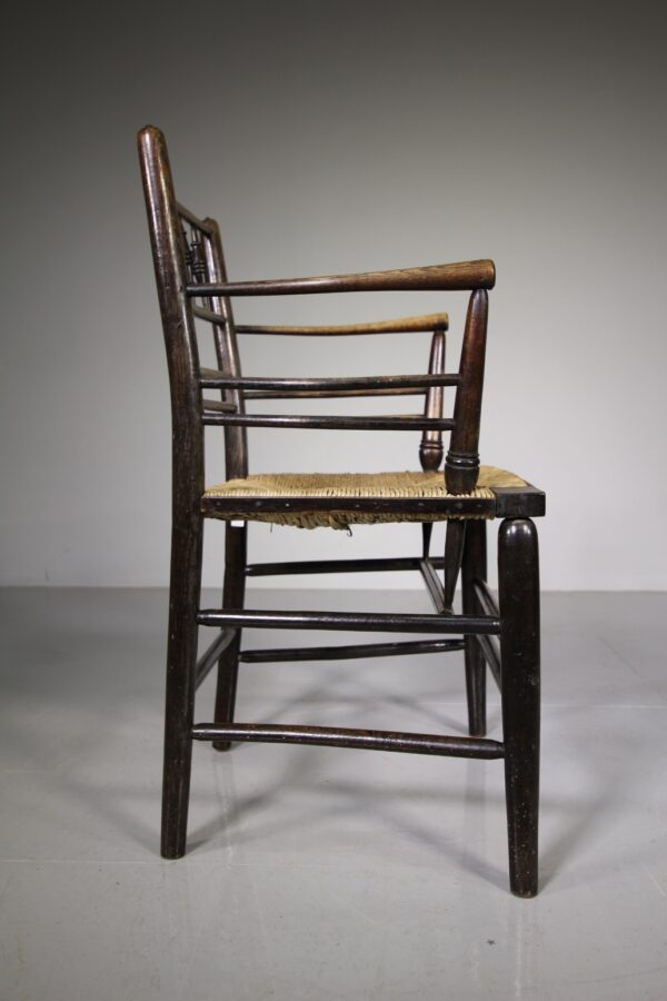 19th Century Antique Sussex Chair by William Morris | Miles Griffiths Antiques