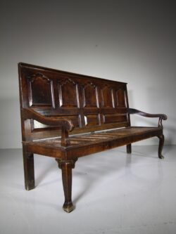 18th Century North Country Antique Oak Settle