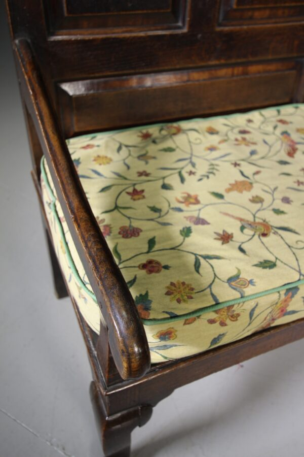 18th Century North Country Antique Oak Settle   Miles Griffiths Antiques