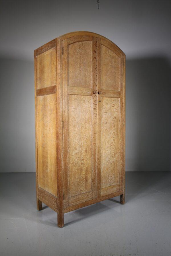 Heals of London Antique Oak Wardrobe - Labelled | Miles Griffiths Antiques