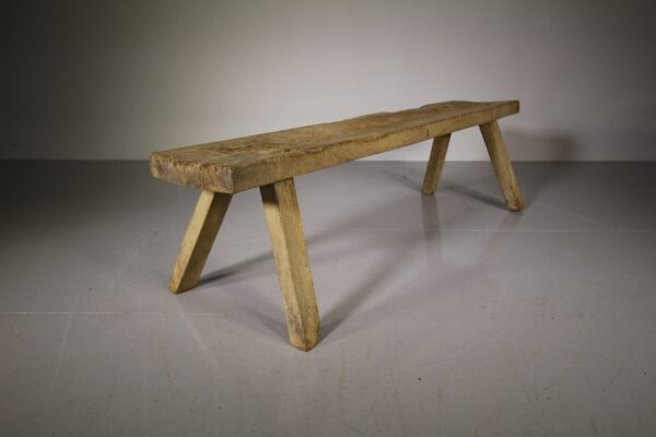 Welsh Early 19th Century Antique Oak Pig Bench | Miles Griffiths Antiques