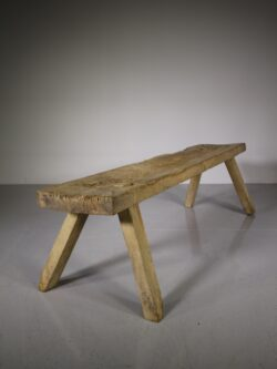 Welsh Early 19th Century Antique Oak Pig Bench