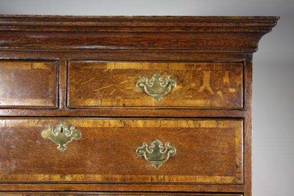 English 18th Century Antique Oak Chest on Chest   Miles Griffiths Antiques