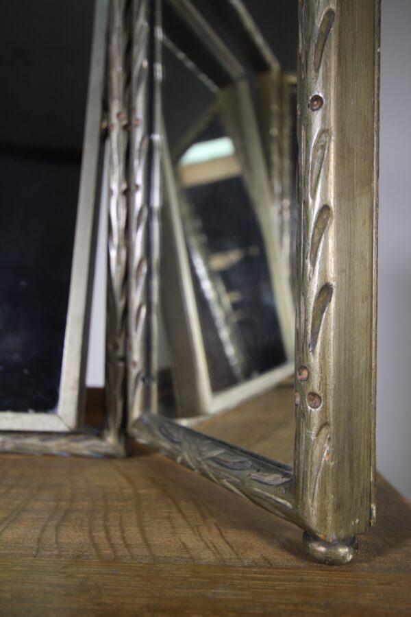 Rare Heals 1920's Original Silver Triptych Mirror | Miles Griffiths Antiques