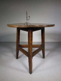18th Century Antique Welsh Oak Cricket Table