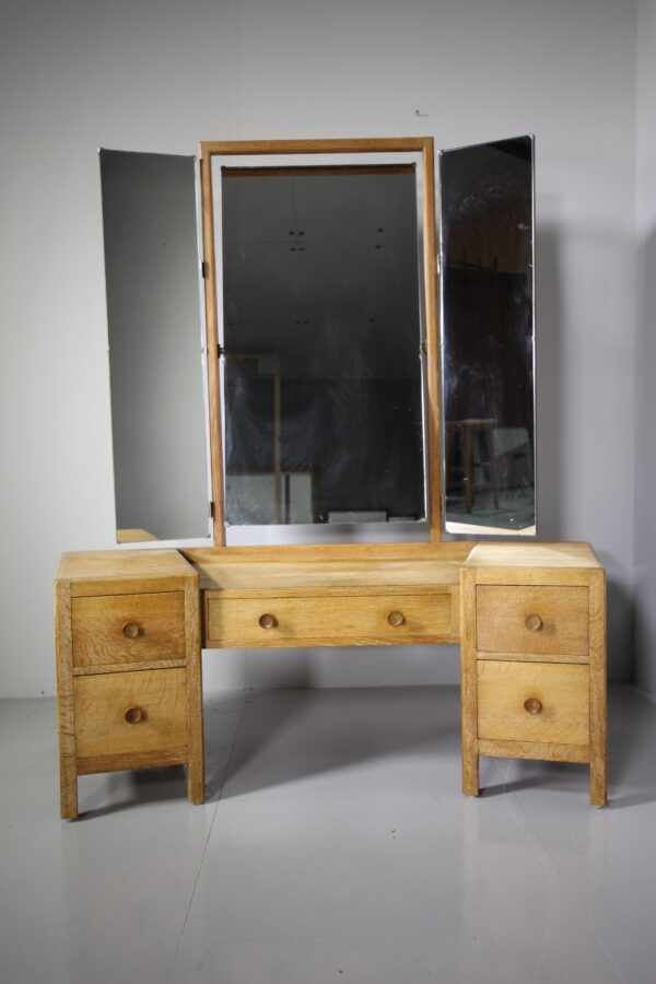 1920's Heals Oak Dressing Table - Labelled | Miles Griffiths Antiques