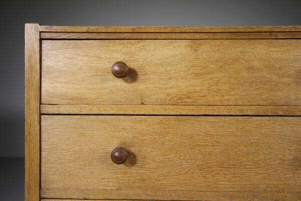 Heals Antique Oak Letchworth Chest of Drawers   Miles Griffiths Antiques