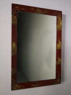 English 19th Century Antique Chinoiserie Wall Mirror