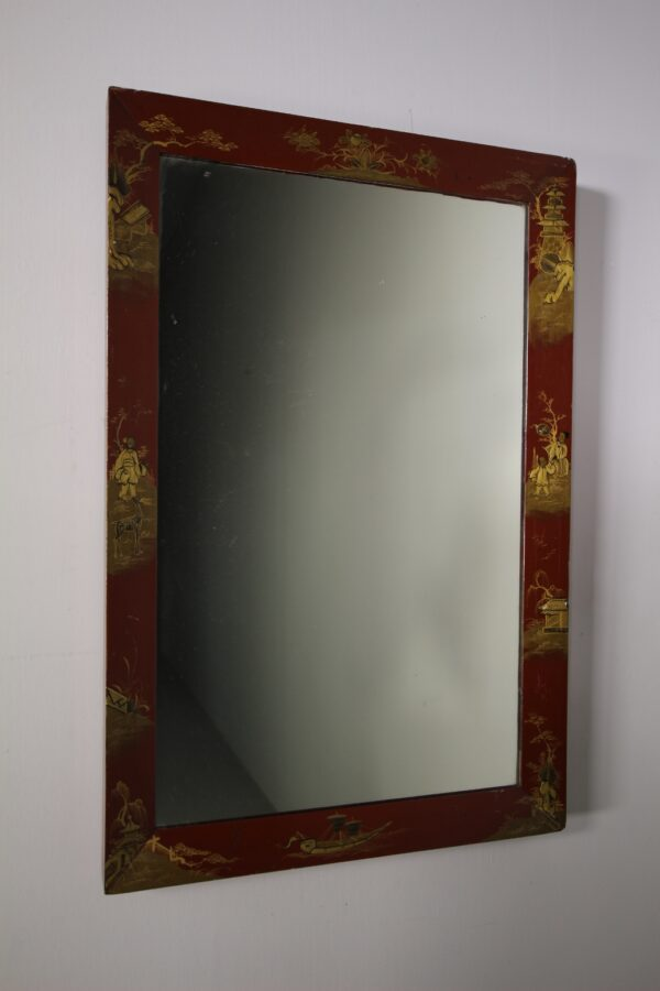 English 19th Century Antique Chinoiserie Wall Mirror   Miles Griffiths Antiques