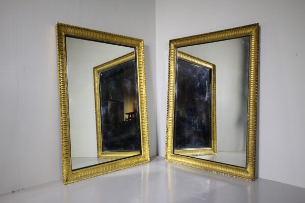 Large Pair of English 19th Century Antique Gilt Mirrors | Miles Griffiths Antiques