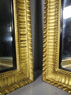 Large Pair of English 19th Century Antique Gilt Mirrors