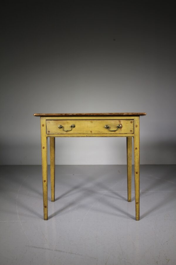 English 18th Century Original Painted Pine Antique Side Table | Miles Griffiths Antiques