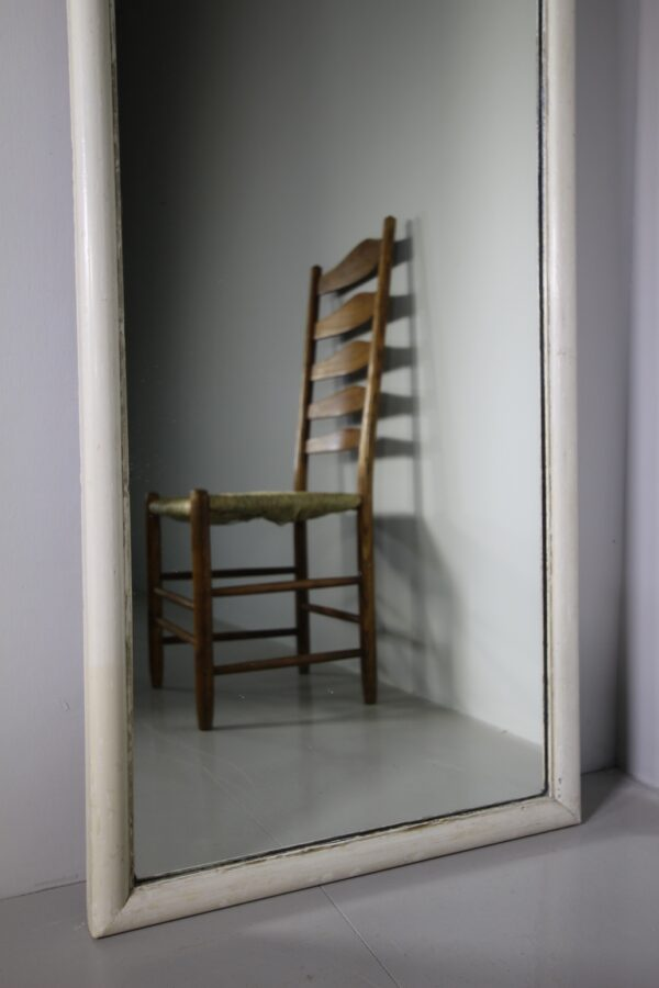 Tall English 19th Century Shop Fitting Mirror in Paint | Miles Griffiths Antiques
