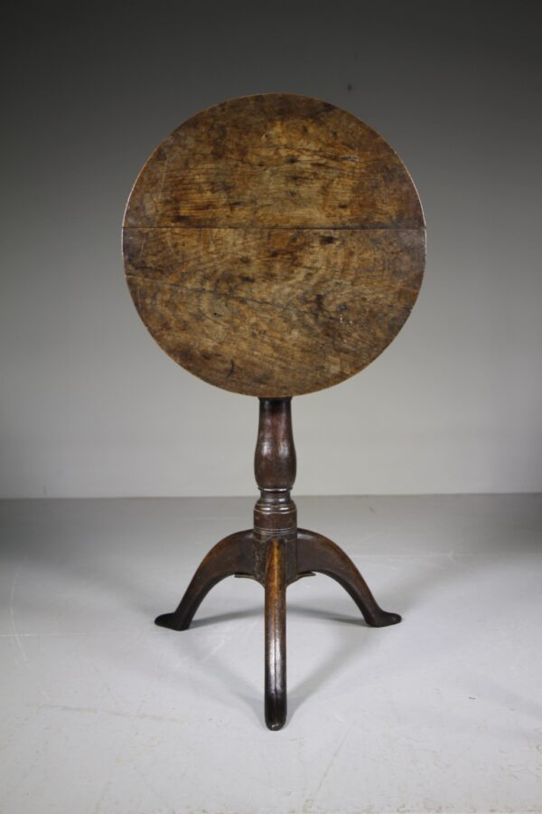 Early 18th Century Welh Antique Oak Tripod Table   Miles Griffiths Antiques