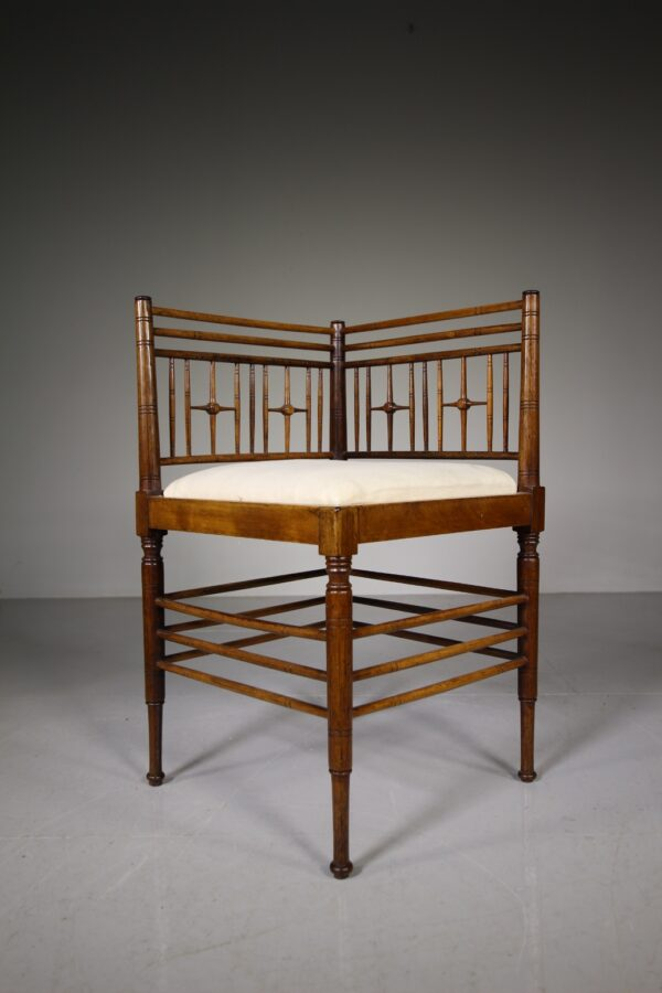 Morris & Co Antique Armchair by Ford Maddox Brown | Miles Griffiths Antiques