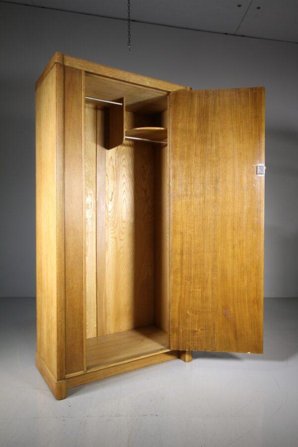 1930's Heals of London Oak Odeon Wardrobe   Miles Griffiths Antiques