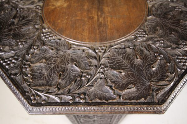 Anglo Indian Antique Carved Side Table with Interesting History | Miles Griffiths Antiques