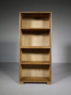 Heals of London Antique Oak Open Bookcase
