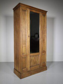 Heals of London Edwardian Antique Oak Wardrobe