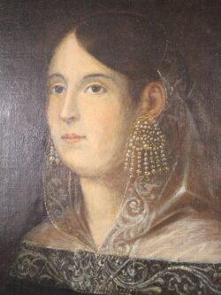 Beautiful 18th Century Large Antique Portrait Oil Painting