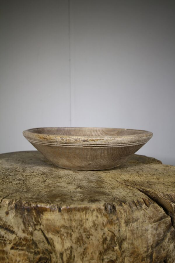 English Wooden Treen Antique Dairy Bowl | Miles Griffiths Antiques