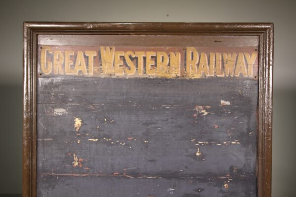Large 19th Century Antique G W Railway Notice Board | Miles Griffiths Antiques