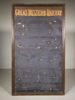 Large 19th Century Antique G W Railway Notice Board