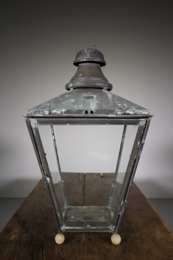 19th Century Antique Copper Lantern by Foster & Pullen | Miles Griffiths Antiques