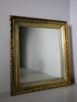 Early 19th Century Carved Wood Antique Gilt Mirror
