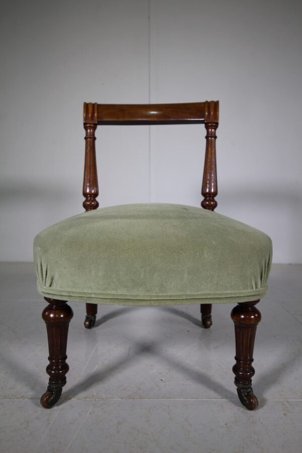 English 19th Century Antique Low Side Chair | Miles Griffiths Antiques