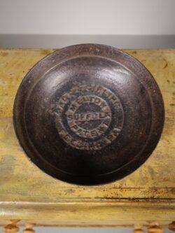 19th Century Suffolk Antique Iron Feeding Bowl