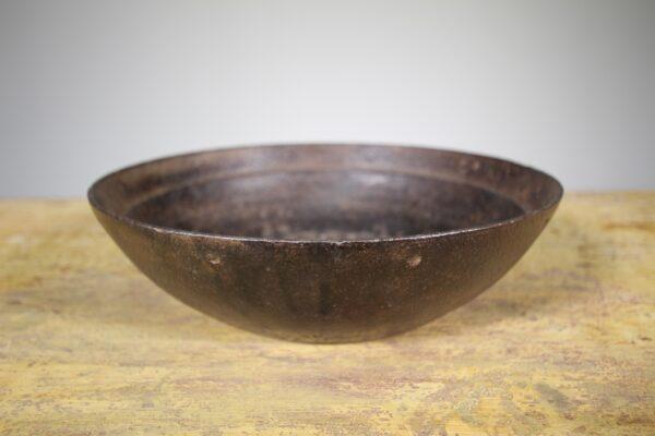 19th Century Suffolk Antique Iron Feeding Bowl   Miles Griffiths Antiques